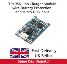 Micro USB Protected Lithium Battery Charging Module LiPo Charger TP4056, UK FAST