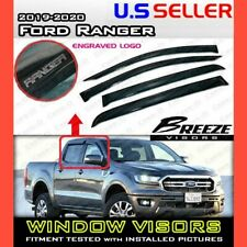 for 19 20 Ford Ranger Super Crew / WINDOW VISORS DEFLECTOR RAIN GUARD VENT SHADE
