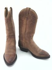 SENDRA Cowboy Boots Tan Brown Leather Handmade in Spain Women's US 6 EU 36 $300