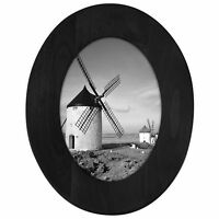 Black Oval Wooden Wall Picture Frame 5 x 7 inches Malden International Designs