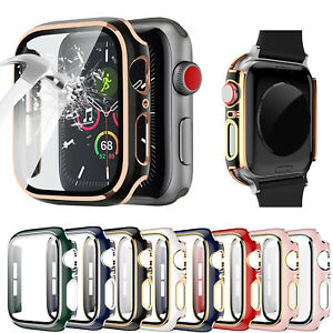 NEW iWatch Full Case Tempered Glass Screen Protector for Apple Watch 6 5 4 3 SE