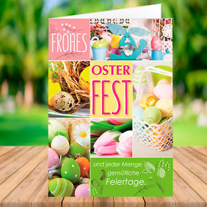 10 / 20 / 50 / 100 PREMIUM Osterkarte mit Umschlag - Grußkarte Ostern