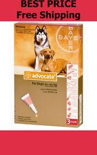 Advocate For Dogs 10-25kg Large Dogs 3 Pack Flea and Lice Treatment EXP 03/2018