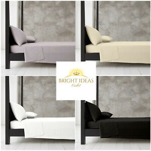 Flat Sheet Bed Sheets Poly Cotton Percale Single Double King Super King Size
