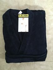 A New Calida Men's After Shower Bathrobe, Size Large, 100% Cotton