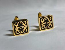 Model Gold / Black Rare F/S Loewe Amazona Anagram Logo Vintage Cufflinks Unisex