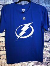 REEBOK NHL TAMPA BAY LIGHTNING blue T-shirt Size L Rare🔥only One On Ebay🏒