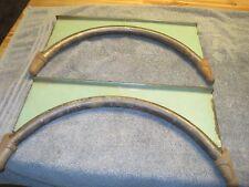 vintage CAST IRON WOOD COOK STOVE SHELF BRACKET  WALL RACK DECOR PORCELAIN GREEN