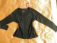EDC BY ESPRIT RAGLAN LANGARM TUNIKA SHIRT SCHWARZ BLACK L, 40 NEU