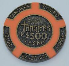 (1) Tangiers $500 Casino Chip Las Vegas Brass Core 16 gram RARE