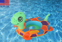 Little turtle baby toddler kids Swimming inflatable pool float seat ring Toy