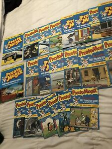 Presto Magix Dry Transfer Game Huge Lot Of 21 Used Booklets