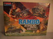Monogram 1/48 Rambo Attack Set-Rambo Chopper and River Boat-Sealed