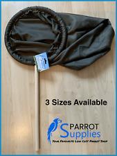 Parrot-Supplies Bird Catching Net - 3 Sizes - Wooden Handles - Parrot Aviary Net