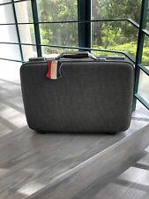 Vintage Gray American Tourister Tiara Suitcase W/Brush, Comb, Mirror, Bottles