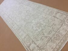 "2'.8"" X 8'.9"" Soft Beige Brown Oushak Persian Oriental Rug Runner Hand Knotted"