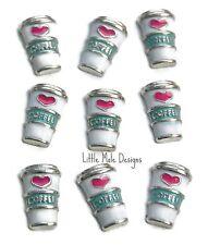 'Coffee' Floating Charm for Living Memory Locket Necklace Pendant Bracelet Drink