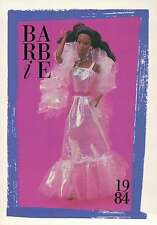 """Barbie Collectible Fashion Trading Card """" Black Crystal Barbie """" Gown 1984"""