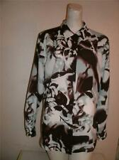 Caviar Multicolor 100% Polyester Long Sleeve Buttton Down Blouse Top Size L