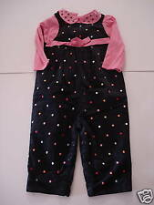 Gymboree Cute as a Button Outlet Top Overalls 12-18