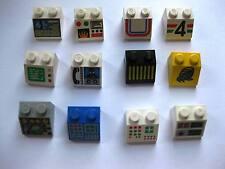 Lego City Space Star Wars 12 bedruckte bzw beklebte Steine (124-13)
