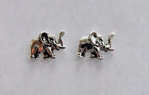 Pair Of Sterling Silver  925  Elephant  Ear Studs  !!     Brand  New  !!