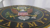 UNITED STATES ARMY Metal Wall Sign W/ Eagle Vintage E Pluribus Unum Symbol Large