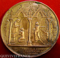 MED3669 - MEDAILLE BAPTEME COMMUNION 1859 par ROQUELAY  - FRENCH MEDAL