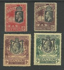 GAMBIA SG118-21 THE 1922-9 GV SET OF 4 MOUNTED MINT CAT £120