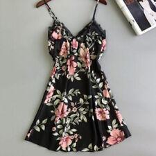 Ladies Sexy Lingerie Silk Lace Robe Dress Babydoll Nightdress Sleepwear SK