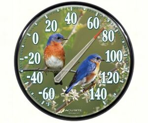AcuRite Indoor and Outdoor Bluebird Thermometer 01598A1