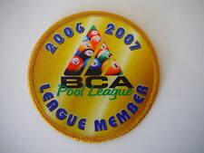 2006 2007 BCA Pool League Member Patch