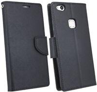 Book-Style Handy Hülle Cover Tasche Zubehör in Schwarz für Huawei P10 LITE @COFI
