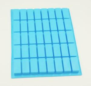 Blue 40 Cavity Rectangle Shaped Silicone Mould Tray Rectangular Baking Brownies