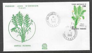 TAAF FRENCH ANTARCTIC 1986 COTULA PLUMOSA PLANT 1v FDC