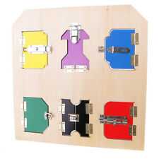 Wood Montessori Material Lock Board Kids Educational Learning Toy