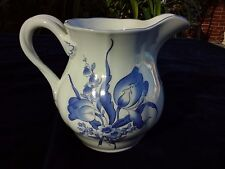 """White & Blue Milk Water Jug 6"""" x 4""""  Spode Fontaine Pattern # S3419R"""