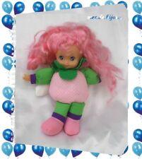 Doudou Poupée Fruit Cheveux Rose Tête Plastique Tissu Mou Rose Pois Cititoy