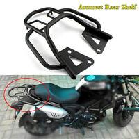 Motorcycle Seat Extension Modified Luggage Rack Rear Shelf Box Bracket w/Armrest