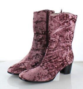 29-70 NEW $195 Women's Sz 9 M Intentionally Blank Hype Velvet Booties - Pink
