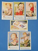 Collection of 6 Vintage Bamforth Comic Tempest Kiddy Series Postcards AM0