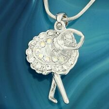W Swarovski Crystal Ballerina Ballet Dancer Nutcracker New Necklace