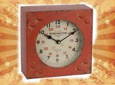 Kamin Uhr Eisen A SQUARE IRON TABLE CLOCK  Antik Deko Vintage Geschenk Luxus