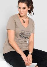 T-Shirt SHEEGO Casual, Taupe. NEU!!! KP 19,99 € SALE%%%