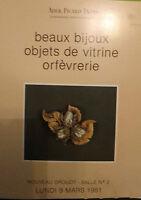 1981 Catálogo De Venta Demuestra Drouot Bonitos Bisutería Artículo Goldsmith