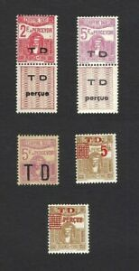 Tunisia 1922 Postage Dues overpinted T.D. for Customs (5)