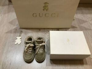 Gucci baby Sheepskin high-top sneakers size EUR 20 (US 4, UK 3.5)