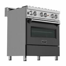 """Zline 30"""" Dual Fuel Range Oven Gas Electric Stainless Black Door Ras-Blm-30"""