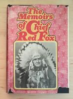 Vintage Hardback The Memoirs of Chief Red Fox 1971 Book Cash Asher 070513627