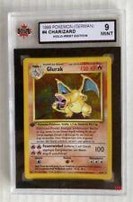 1999 CHARIZARD Pokemon Holo 1st. Edition Card #4 GERMAN KSA 9 MINT
